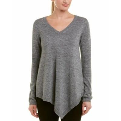 ファッション ドレス Acrobat Asymmetric Wool-Blend Sweater S Grey