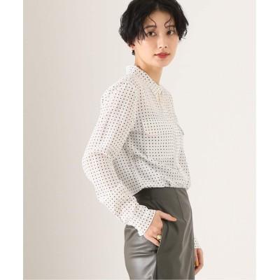 レディース ジャーナルスタンダード レサージュ 【EQUIPMENT/エキプモン】 SLIM SIGNATURE DOT:シャツ ホワイト S