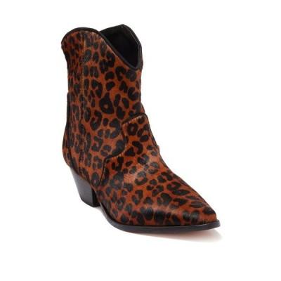 シュッツ レディース ブーツ&レインブーツ シューズ Jemima Leather Leopard Print Western Bootie SANDSTONE-BLACK/BLACK