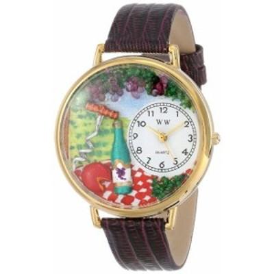腕時計 気まぐれなかわいい プレゼント Whimsical Watches Unisex G0310010 Wine and Cheese Purple