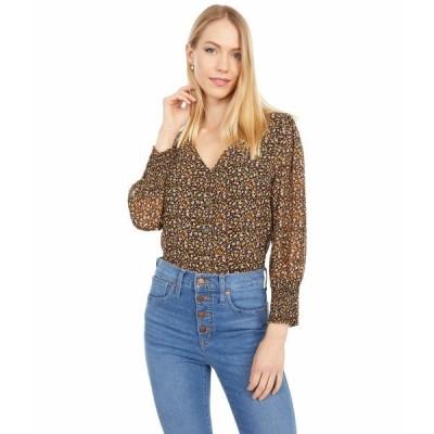 メイドウェル シャツ トップス レディース Smocked-Cuff Button-Front Shirt in Folktale Paisley Peasant Paisley Almo