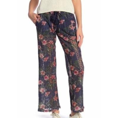 Roxy ロキシー ファッション パンツ Roxy Womens Pants Blue Size Large L Floral Printed Drawstring Stretch