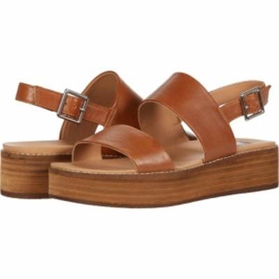 スティーブ マデン Steve Madden レディース サンダル・ミュール ウェッジソール シューズ・靴 Teenie Wedge Sandal Cognac Leather