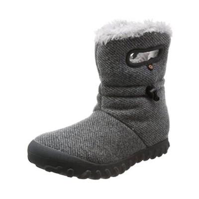 [ボグス] スノーブーツ ウィンターブーツ 長靴 レディース 防寒 防水 防滑 72106 B-MOC WOOL (チャコール 25.0 cm)