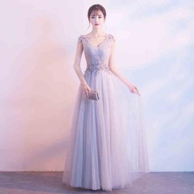ロングドレス パーティードレス レディース ワンピース 結婚式 ドレス 二次会 フォーマル 編み上げ ロングドレス ピアノ発表会 舞踏会