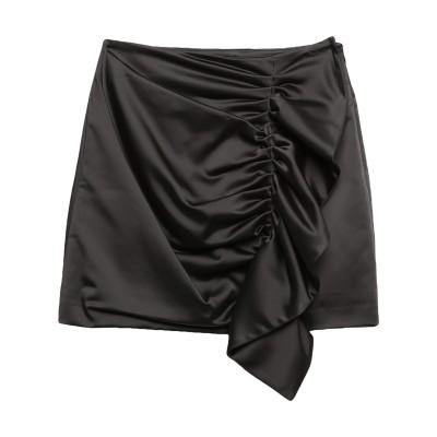 パロッシュ P.A.R.O.S.H. ミニスカート ブラック M アセテート 48% / ナイロン 45% / ポリウレタン 7% ミニスカート