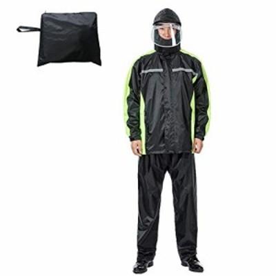 【送料無料】レインコート 自転車 レインスーツ レインウェア 上下セット 透湿 雨具 雨かっぱ メンズ レディース 防風 防水 撥水 再帰反