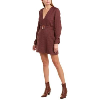 スティービーメイ ワンピース トップス レディース Stevie May Fia Linen A-Line Dress sangiovese