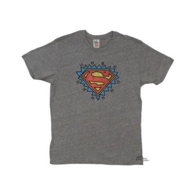 Tシャツ ジャンクフード Superman Cartoon Logo DC Comics Junk Food Licensed Adult Shirt S-XXL