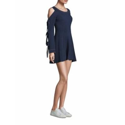 オープニングセレモニー レディース ワンピース Cold Shoulder Tie Sleeve Flare Dress