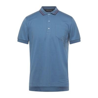 ロシニョール ROSSIGNOL ポロシャツ ブルーグレー 48 コットン 100% ポロシャツ