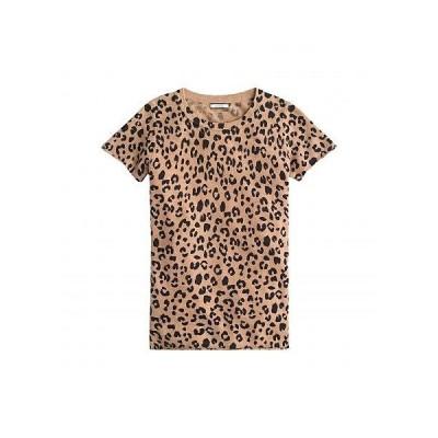 J.Crew レディース 女性用 ファッション Tシャツ Leopard Printed Short Sleeve Tee in Cashmere - Heather Camel Mod Leopard