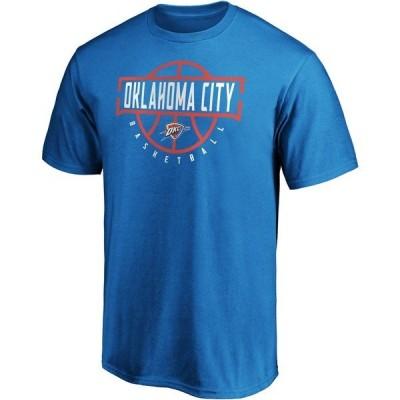 ファナティクス Tシャツ トップス メンズ Fanatics Men's Oklahoma City Thunder Iconic GiveNGo Short Sleeve T-shirt Blue