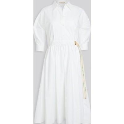 (取寄)トリーバーチ レディース ポプリン シャツドレス Tory Burch Women's Poplin Shirtdress White