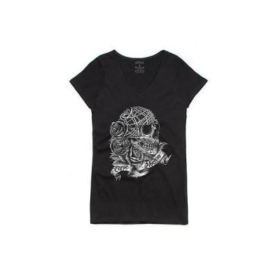 Tシャツ フィフティファイブ レディース Fifty5 Clothing Carpe Noctem Seize The Night Bevel V Neck Tシャツ ブラック