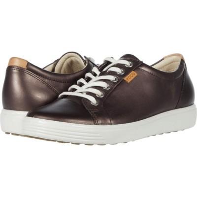 エコー ECCO レディース スニーカー シューズ・靴 Soft 7 Sneaker Shale Metallic Cow Leather