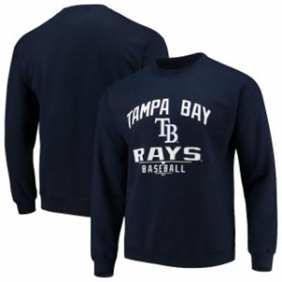 Stitches スティッチ 服 スウェット Stitches Tampa Bay Rays Navy Holiday Pullover Crew Sweatshirt