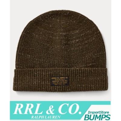 RRL ダブルアールエル ニット帽 キャップ 帽子 ハット フリーサイズ メンズ レディース ロゴ ヘザー 杢 ラルフローレン 新作