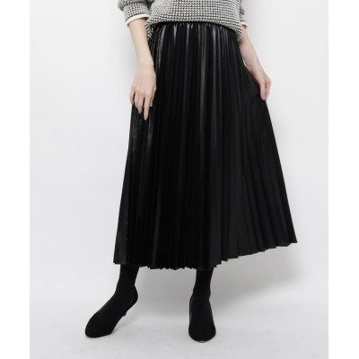 Modify(モディファイ) モードサテンプリーツスカート