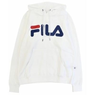 フィラ パーカー FILA PULLOVER HOODED ホワイト FM9589 メンズ トップス スウェット プルオーバー