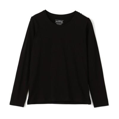 ログイン レディース earthling オーガニックコットン ロングスリーブTシャツ ブラック L