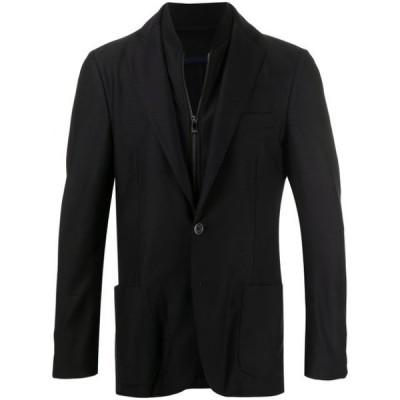 コルネリアーニ ブレザー ジャケットアウター メンズ Corneliani layered zip-up blazer Blue