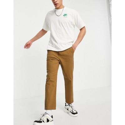 エイソス ASOS DESIGN メンズ チノパン ボトムス・パンツ relaxed skater chinos in brown ブラウン