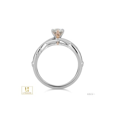 エヴァンゲリオン 指輪 ソリティアリング EVANGELION ロンギヌスの槍 プラチナ×K18ピンクゴールド 婚約指輪 エンゲージリング 結婚 プレゼント