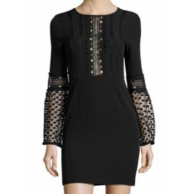 Romeo  ファッション ドレス Romeo + Juliet NEW Black Womens Size Medium M Crochet Sheath Dress