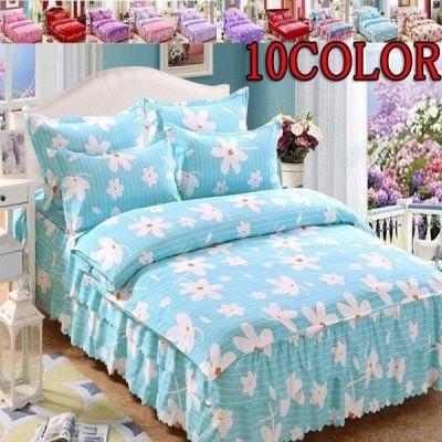シーツセット ベッドカバー 掛け布団カバー 枕カバー 4点セット ベッドリネン 花柄 ベッド用品