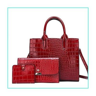 【新品】YP Women Purses and Handbags Sets Leather Top Handle Satchel Bags 3 Piece (Red), normal(並行輸入品)