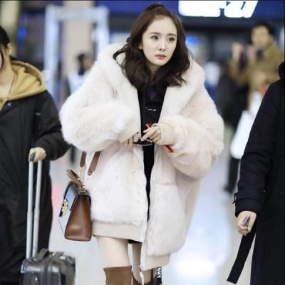 ふわふわ 美品  女性 おしゃれ アウター 暖かい 冬物 防寒 毛皮コート 上質コート 上着  ファッション ファー 超人気  フェイクファー防風