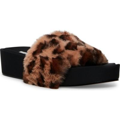 スティーブン ニューヨーク STEVEN NEW YORK レディース サンダル・ミュール シューズ・靴 Randela Faux-Fur Flatform Slides Leopard Multi