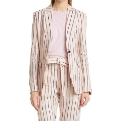 ラグ&ボーン RAG & BONE レディース スーツ・ジャケット アウター Claudia Stripe Blazer Pink Stripe