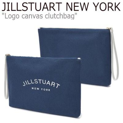 ジルスチュアート ニューヨーク クラッチ JILLSTUART NEW YORK Logo canvas clutchbag ロゴ キャンバス クラッチバッグ BLUE ブルー JABA0F977B2 バッグ