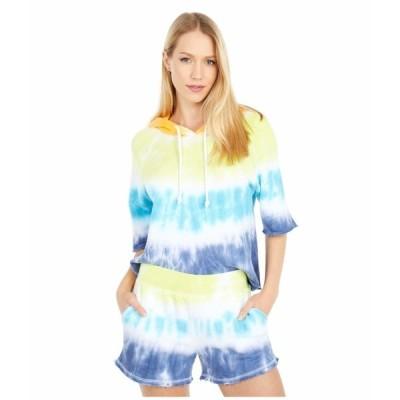 チェイサー パーカー・スウェットシャツ アウター レディース Linen French Terry 3/4 Sleeve Pullover Hoodie Spectrum Dye