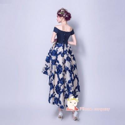 刺繍 不規則なウエディングドレス Party パーティードレス 発表会20代30代 演奏会 カラードレス Dress ピアノ 大きいサイズロングドレス 結婚式 二次会