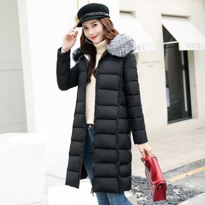 コート レディース 韓國 中綿コートロングコート  ジャケット フード付き シルエット 防寒 ファッション
