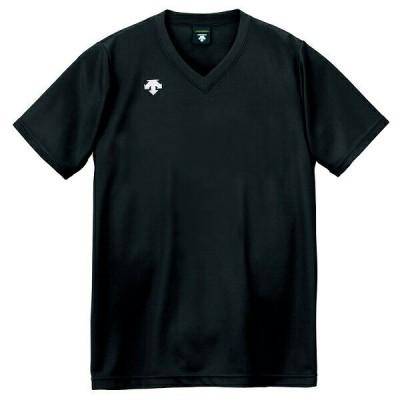 ◆◆○送料無料 メール便発送 <デサント> DESCENTE バレーボール V首半袖ゲームシャツ(ユニセックス) ブラック DSS4321-BLK(dss4321-blk-des1)
