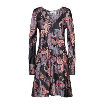 クロエ CHLOÉ ミニワンピース&ドレス ブラック 38 レーヨン 100% ミニワンピース&ドレス