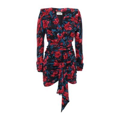 SAINT LAURENT ミニワンピース&ドレス レッド 38 シルク 100% ミニワンピース&ドレス