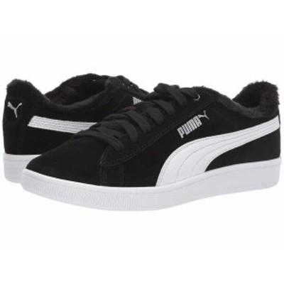 プーマ レディース スニーカー シューズ Vikky V2 Fur Puma Black/Puma White/Puma Silver