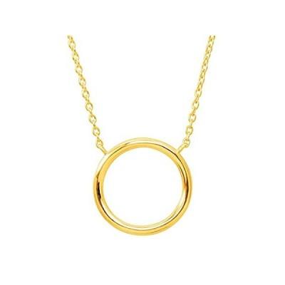 特別価格Silpada 'Karma' Open Circle Necklace in 14K Gold-Plated Sterling Silver, 18好評販売中