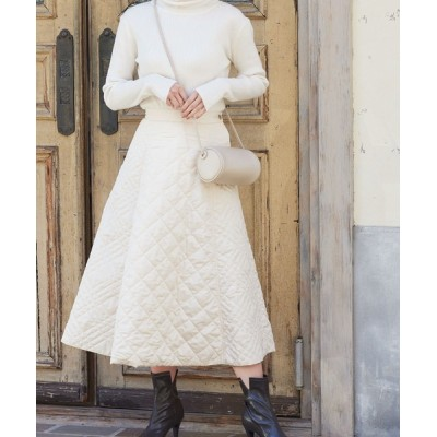 kobelettuce / キルティングバックゴムフレアスカート WOMEN スカート > スカート