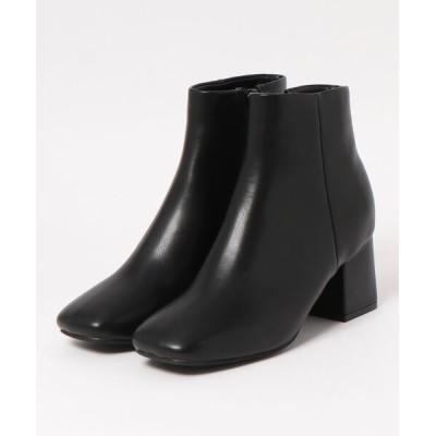 Daily russet / 【Casselini/キャセリーニ】スクエアショートブーツ WOMEN シューズ > ブーツ