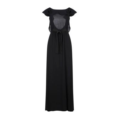 タラ ジャーモン TARA JARMON ロングワンピース&ドレス ブラック 36 レーヨン 100% ロングワンピース&ドレス