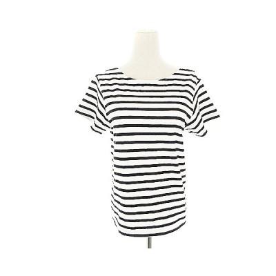 【中古】アングリッド UNGRID Tシャツ カットソー 半袖 ボーダー F 白 ホワイト /AAM4 レディース 【ベクトル 古着】