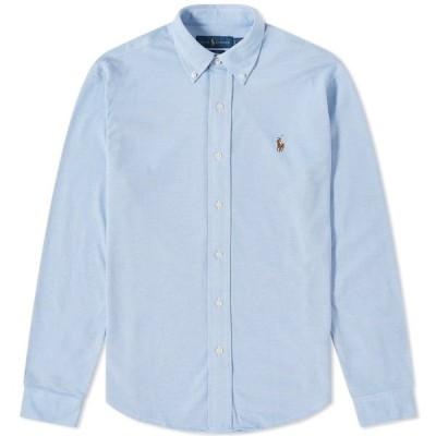 ラルフ ローレン Polo Ralph Lauren メンズ シャツ トップス Button Down Oxford Pique Shirt Harbour Island Blue
