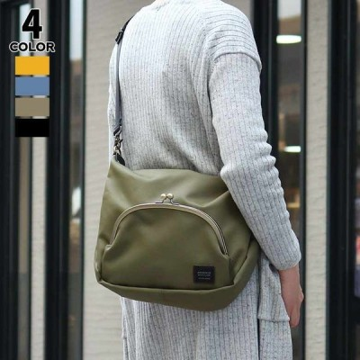 AYANOKOJI くし型がま口ポケット付きショルダーバッグ(大) マットツイル 在庫商品
