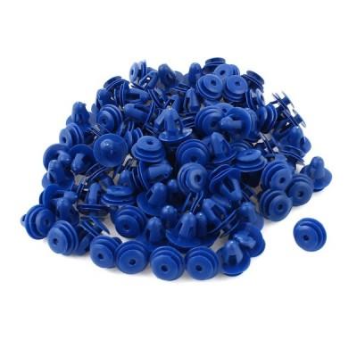 uxcell 車のプラスチックリベット クリップ リベット ファスナー ブルー プラスチック 10mm